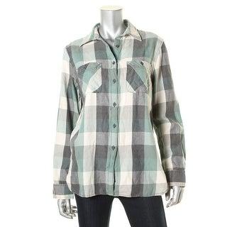 Denim & Supply Ralph Lauren Womens Flannel Plaid Button-Down Top - L