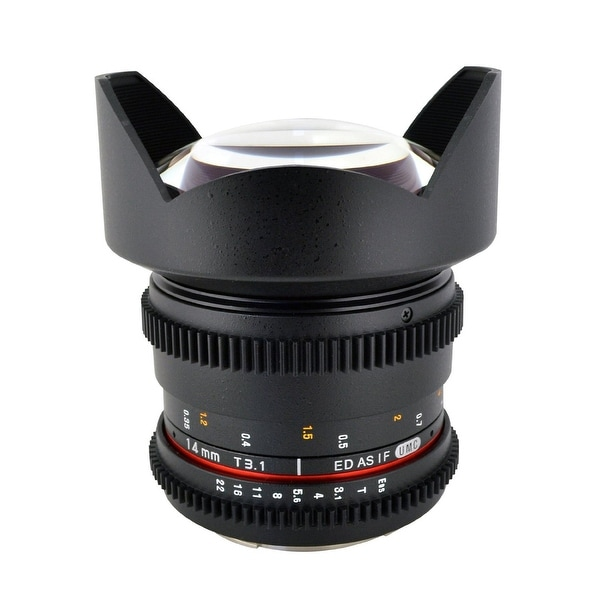 "ROKINON 14mm T3.1 ""Cine"" IF ED Super Wide-Angle Lens for Canon - Black"