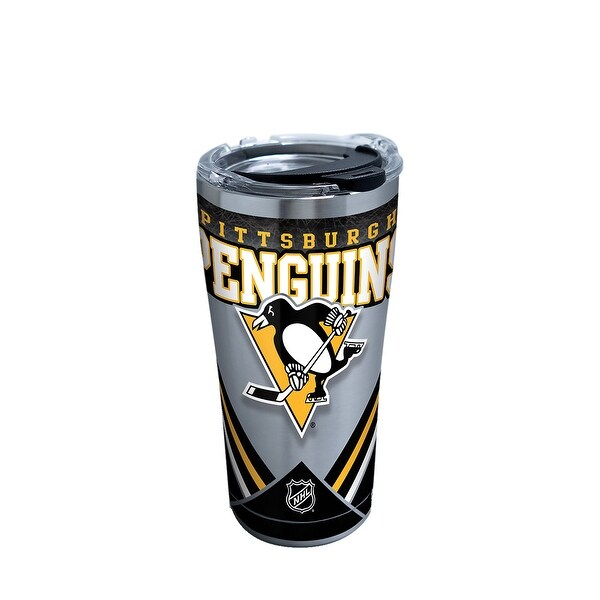 6e57333c849b2 Shop NHL Pittsburgh Penguins Ice 20 oz Stainless Steel Tumbler with lid -  Free Shipping On Orders Over  45 - Overstock - 23047107