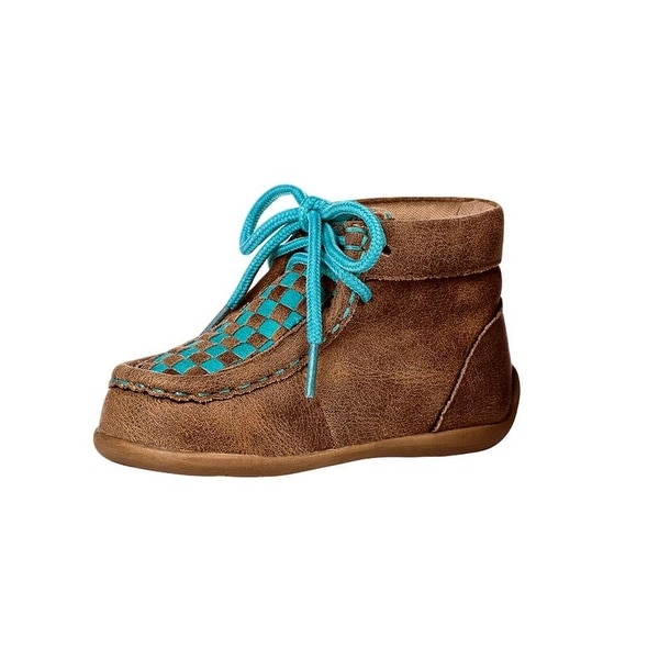 Blazin Roxx Western Shoes Girls Cassidy Lace Up Checkerboard