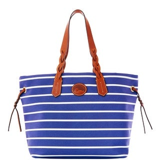 Dooney & Bourke Eastham Shopper (Introduced by Dooney & Bourke at $199 in Nov 2012) - navy navy white