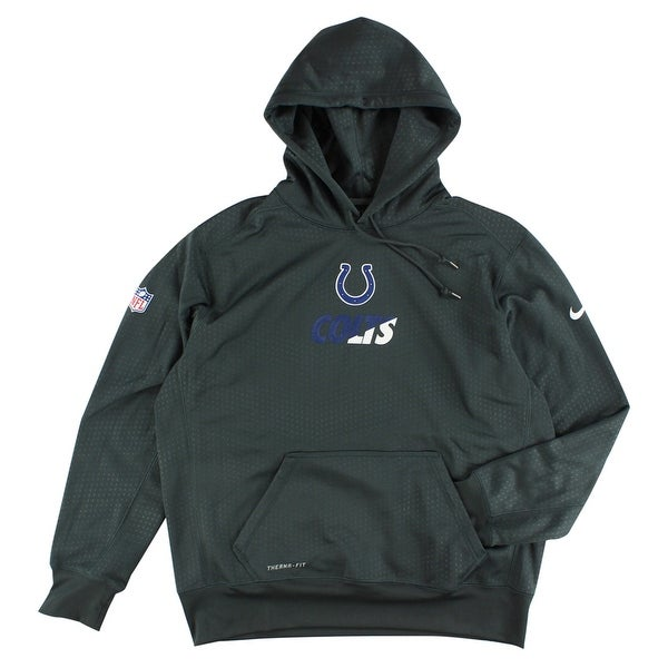 Shop Nike Mens Indianapolis Colts NFL Sideline Knock Out Pullover Hoodie  Charcoal - charcoal dark blue white - XL - Free Shipping Today - Overstock  - ... ccde8d4f4