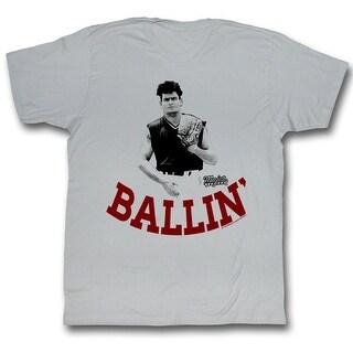 Major League Baseball Ballin' Men's Silver T-Shirt