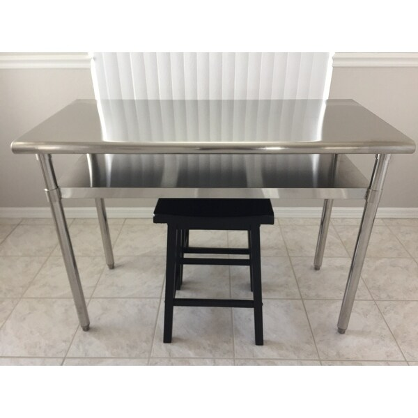 Charming Trinity EcoStorage Stainless Steel Table   Free Shipping Today    Overstock.com   17431562