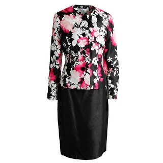 Le Suit Womens English Garden Floral Print 2PC Skirt Suit
