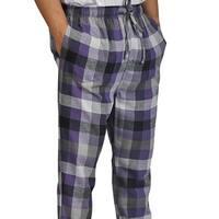 ProTouch Mens Super Soft Flannel Plaid Pajama Elastic Drawstring