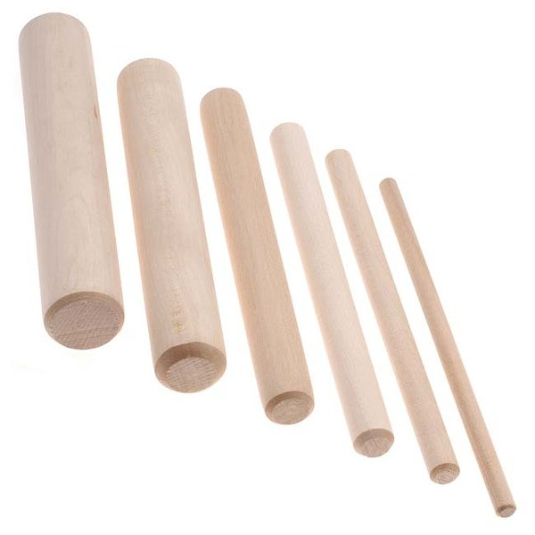 BeadSmith 6-Piece Wooden Mandrel Set For Wire Forming - Includes Storage Case