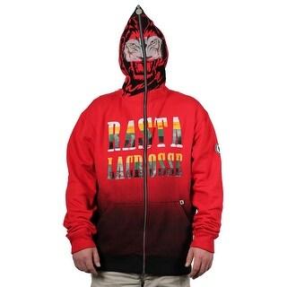 "Flow Society ""Rasta Lax Lion"" Face-Zip Lacrosse Hoodie"