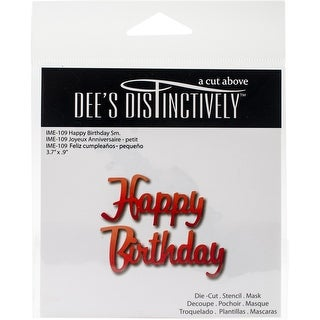 "Dee's Distinctively Dies-Small Happy Birthday 3.7""X.9"""