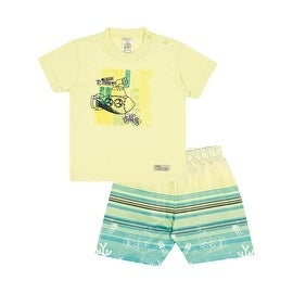 Baby Boy Outfit Infant Graphic T-Shirt and Shorts Set Pulla Bulla 3-12 Months