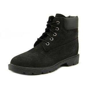 Timberland 6In Classic BT Youth Round Toe Leather Black Chukka Boot