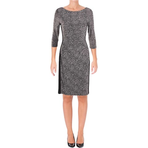 Lauren Ralph Lauren Womens Drew Aslan Wear to Work Dress Animal Print