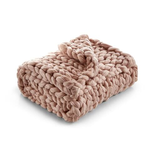 Emalia Chunky Knit Throw