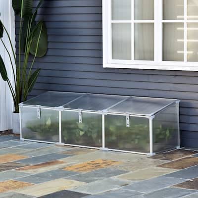 """Outsunny 71"""" Aluminum Vented Cold Frame Greenhouse"""