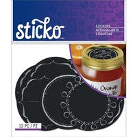 Sticko E5272057 Chalk Label Stickers-Chalk Mason Jar Labels