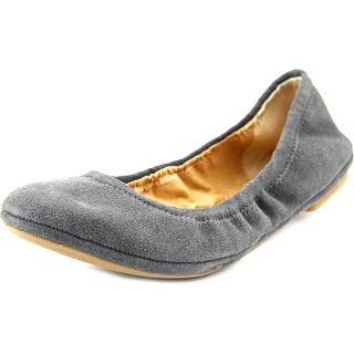 Lucky Brand Emmie W Round Toe Suede Ballet Flats