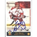 Ted Drury Harvard Calgary Flames 1994 Classic Prospects Autographed Card Rookie Card This item comes with a certi