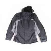 ZeroXposur Black Mens Size Large L Full-Zip Hooded Puffer Jacket