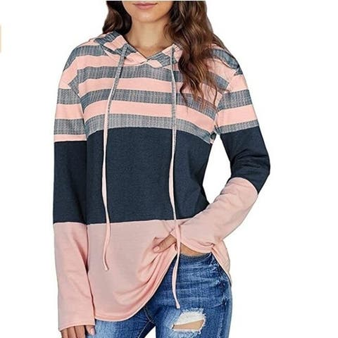 Color Block Pullover Hoodies Sweatshirts