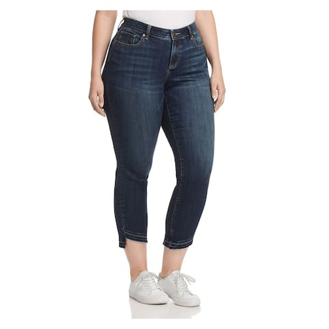 VINCE CAMUTO Womens Blue Cropped Jeans Plus Size: 22W