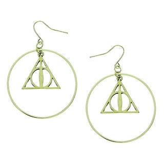 08aad4e0a Shop Harry Potter Movie Deathly Hallows Symbol Hoop Earrings Official HP  New - Free Shipping On Orders Over $45 - Overstock - 17616119