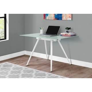 Monarch 1032 White Thick Frosted Glass Table Top Dining Table