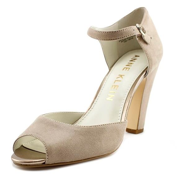 Anne Klein Henrika Women Peep-Toe Canvas Mary Janes