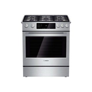 """Bosch HGI8054UC 30"""" 4.8 Cu. Ft. Gas Slide-In Range with Convection from the 800 Series - Stainless Steel"""
