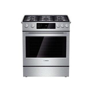Bosch HGI8054UC 30 Inch 4.8 Cu. Ft. Gas Slide-In Range with Convection from the 800 Series - Stainless Steel - N/A