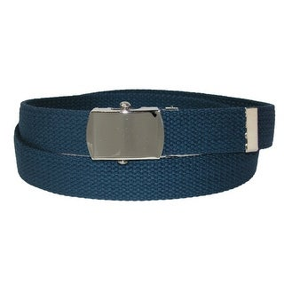 CTM® Kids' 1 Inch Web Belt with Military Buckle - One size