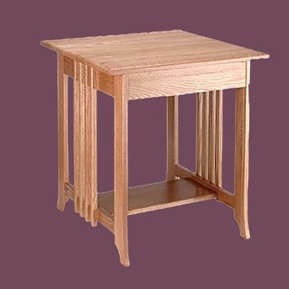 End Tables Unfinished Oak Mission Table 24.5H