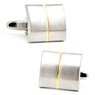 Two Tone Divided Square Cufflinks