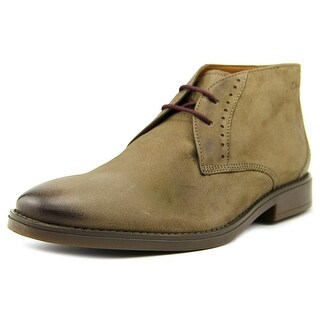 Clarks Garren Free Men Plain Toe Leather Desert Boot