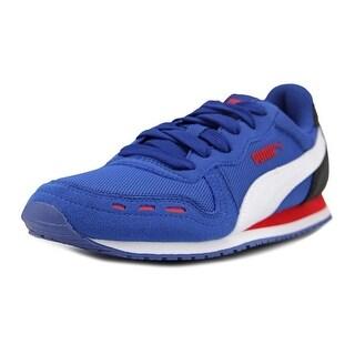 Puma Cabana Racer Mesh Jr Youth  Round Toe Canvas Blue Fashion Sneakers