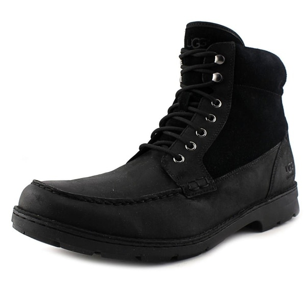 Ugg Australia Barrington Men Moc Toe Leather Black Boot