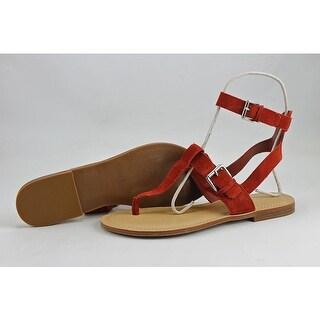 Marc Fisher Reily Women Open Toe Suede Thong Sandal