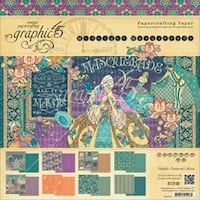 """Midnight Masquerade; 8 Designs/3 Each - Double-Sided Paper Pad 12""""X12"""" 24/Pkg"""