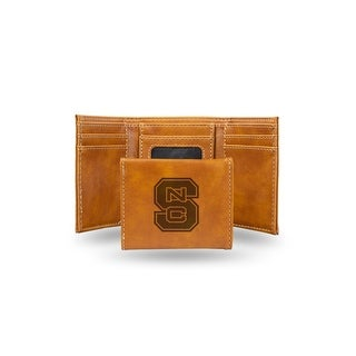 4 Brown College North Carolina State Wolfpack Laser Engraved Trifold Wallet N A