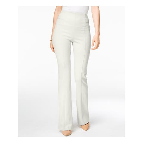 INC Womens Ivory Boot Cut Wear To Work Pants Size 6