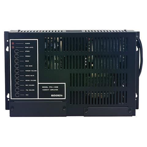 Bogen TPU100B Wall-Mounted Telephone Paging Amplifiers W/ 100 Watts Power - Multicolor