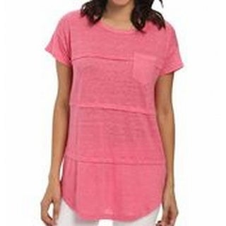 Mod-o-doc NEW Pink Women's Size XS Pocket-Front Pleated Seamed Blouse