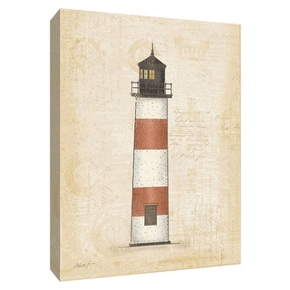 """PTM Images 9-154779  PTM Canvas Collection 10"""" x 8"""" - """"Coastal Light III"""" Giclee Lighthouses Art Print on Canvas"""