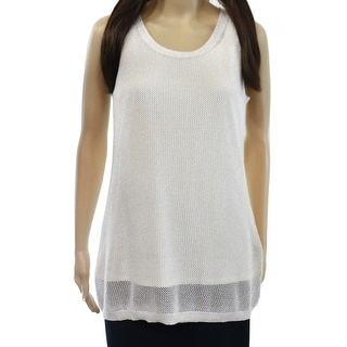 Calvin Klein NEW Beige Gold Women Size Large L Sleeveless Tank Knit Top