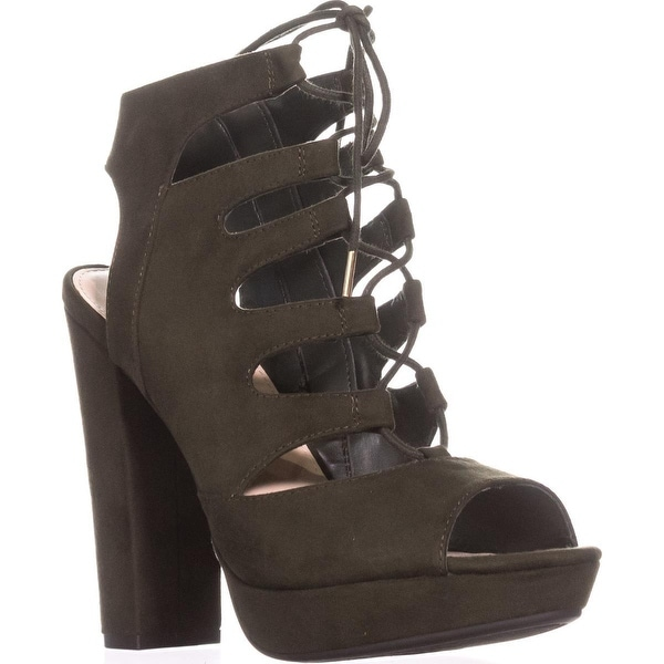 B35 Nelly Platform Gladiator Sandals, Olive