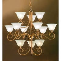 "Classic Lighting 40312 Torino 12-Light 34"" Wide 3 Tier Chandelier - Gold - n/a"