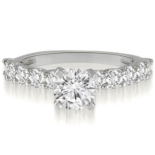 1.75 cttw. 14K White Gold Round Cut Diamond Engagement Ring