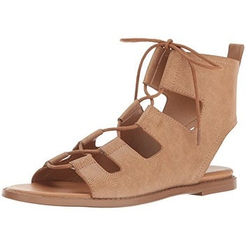 Report Women's Zahara Gladiator Sandal, Tan, Size 9.0