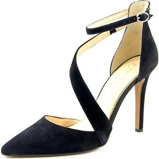 Jessica Simpson Castana Pointed Toe Leather Heels