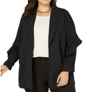 Link to Alfani Women's Jacket Black Size 2X Plus Notched Collar Open Front Similar Items in Women's Outerwear