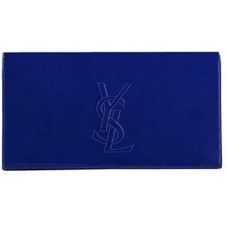 Saint Laurent YSL 361120 Blue Patent Leather Large Belle de Jour Clutch Bag